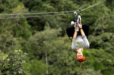 2-line Canopy Tour 1000m (3281 ft.) long & Itinerary Ziplines Mindo Canopy Ecuador